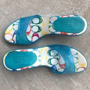 COACH Michelle Jelly Slide Kitten Heel Sandals